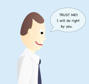 Trust me sales rep